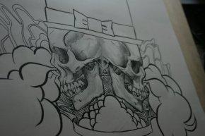 Skull 신사